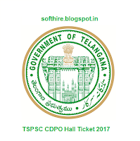 TSPSC CDPO Hall Ticket