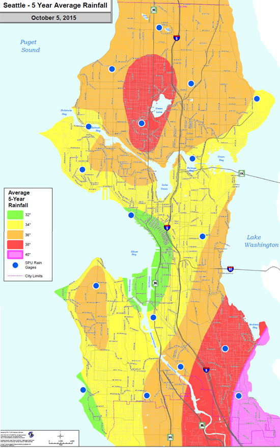 Microclimates and small-scale rain shadows: Rainfall variability in the City of Seattle