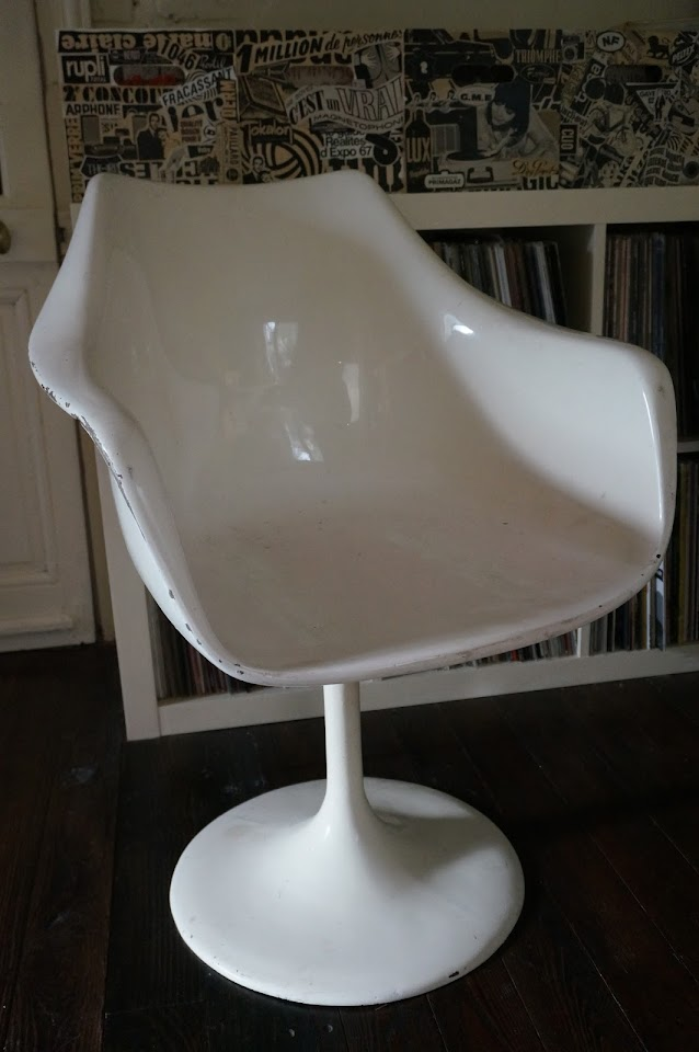 vintage chair chaise fauteuil style saarinen knoll 1950s 50s 1970s 70s 1960s 60s années 70 60
