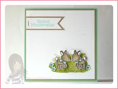 Stampin' Up! rosa Mädchen Kulmbach: Zwillingskarte zur Geburt mit Zum Nachwuchs, Perpetual Birthday Calendar, Baum- und Itty Bitty Stanze