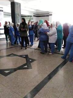 التعدي علي ممرضة بمستشفى التأمين الصحي بالسويس من أسرة أحد المرضي