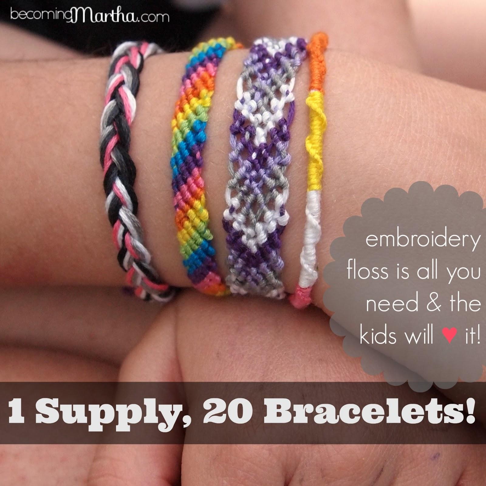 Friendship bracelet embroidery floss bracelet