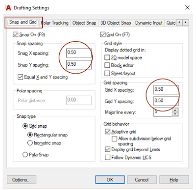 Snap and Grid Settings