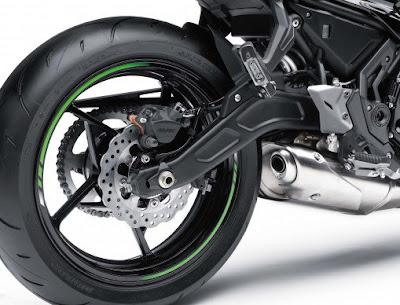 2017 Kawasaki Ninja 650 ABS rear wheel