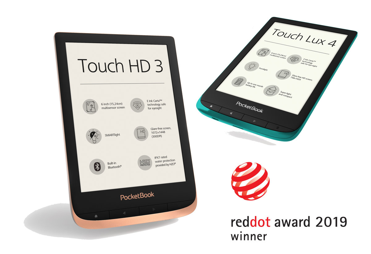 PocketBook Touch HD 3 i PocketBook Touch Lux 4 wyróżnione nagrodą Red Dot