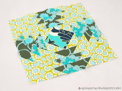 mein Pineapple für den 6 Köpfe - 12 Blöcke Quilt Along
