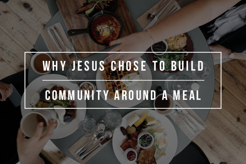 People building community around a meal