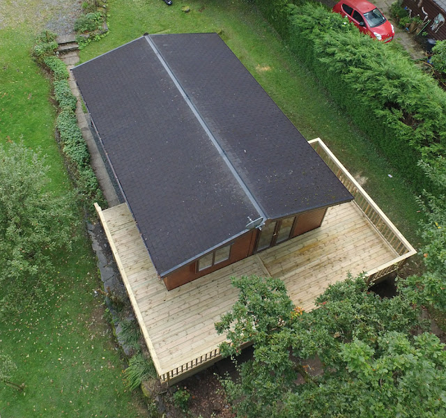 chalet timber deck Machynlleth