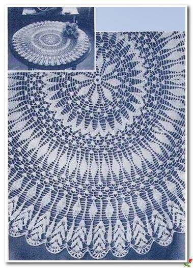 wzory serwet szydełkowych