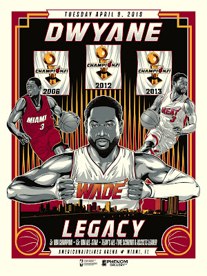 Miami Heat Dwyane Wade Legacy Last Game Screen Print by M. Fitz x Phenom Gallery