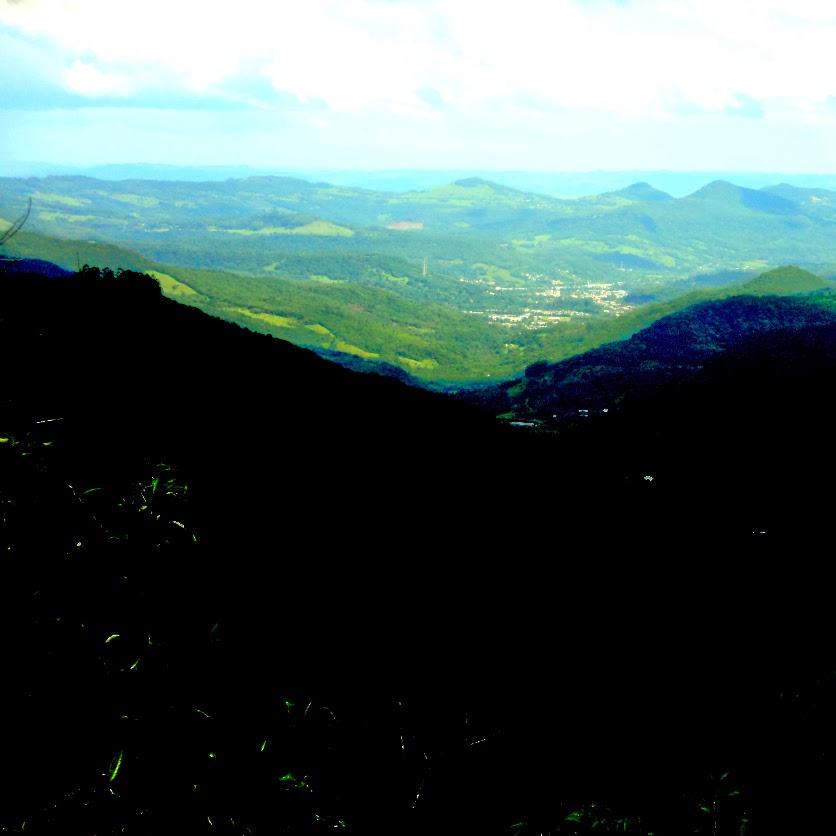 Vale do Quilombo, em Canela, Visto do Mirante do Hotel Laje de Pedra
