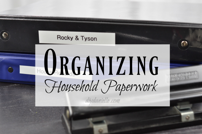 Organizing paperwork to declutter your home.