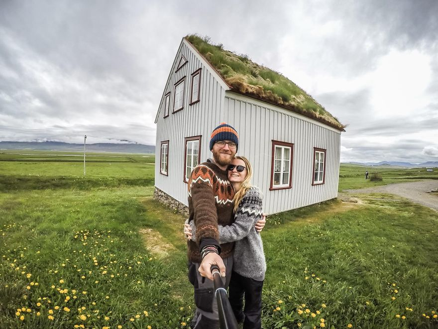 Saw this beautiful house in Iceland - We Visited Over 50 Countries With Our Van Spending Only $8 A Day