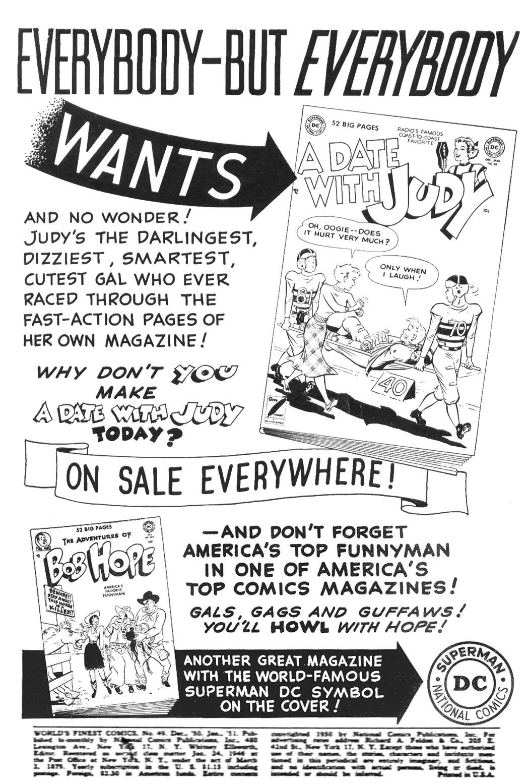 Read online World's Finest Comics comic -  Issue #49 - 2