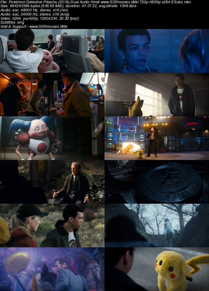 Pokémon Detective Pikachu (2019) Dual Audio Hindi 720p HDRip ESubs Movie Download