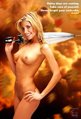 81499 umbrella 123 379lo Sarah Michelle Gellar Nude Possing her Boobs & Ass Fake