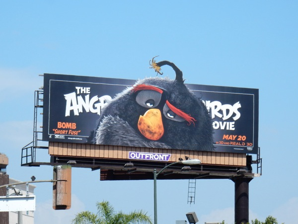 Angry Birds Movie Bomb Short Fuse billboard