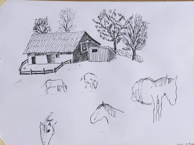 Mit Tusche Zeichnen