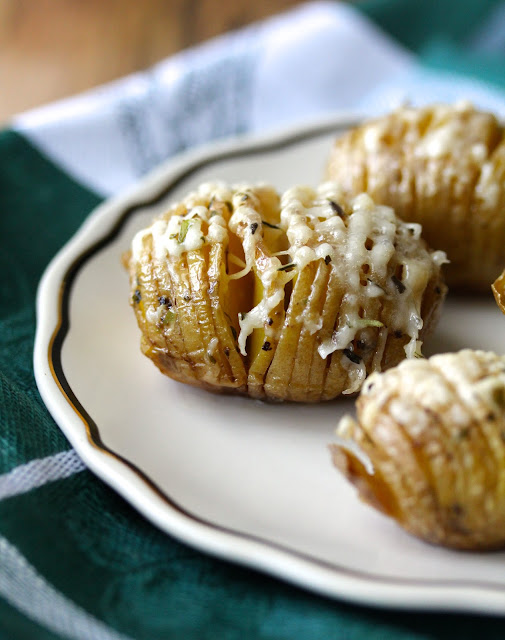 Baby Yukon Gold Parmesan Hasselback Potatoes with Herbes de Provence