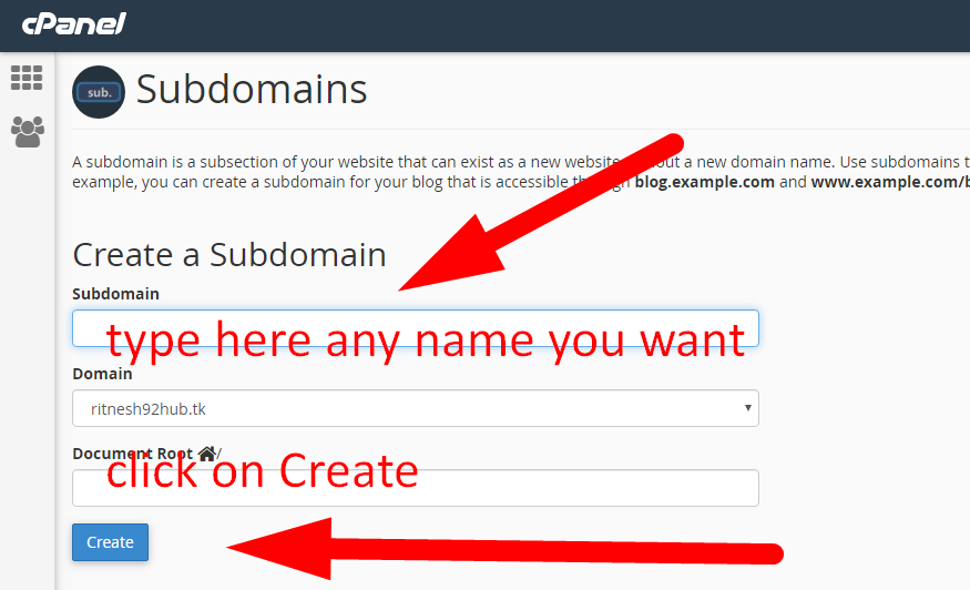 How to create a subdomain in cPanel-How do I add a subdomain