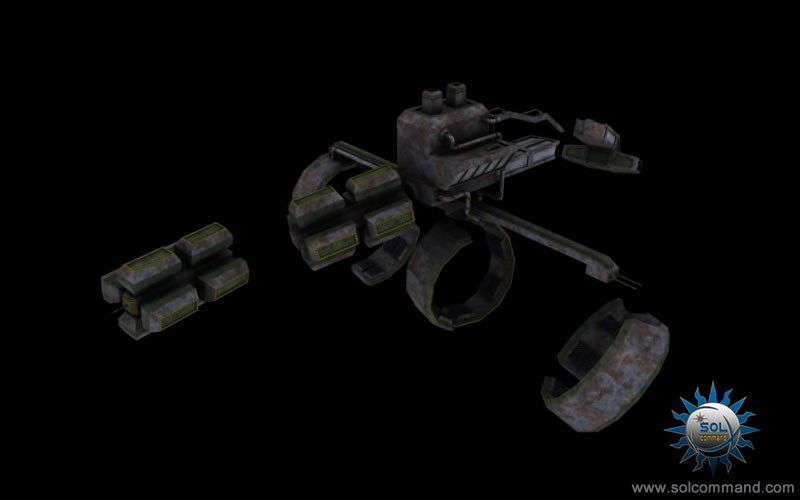 Derelict mining station destroyed 3d model free download scifi space station motherbase base asteroid hull damage pieces