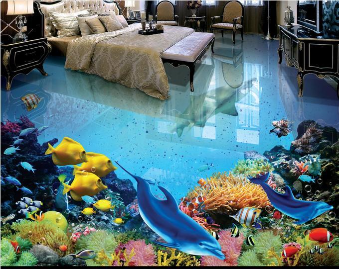 3d floor designs for room interior for Underwater bedroom designs