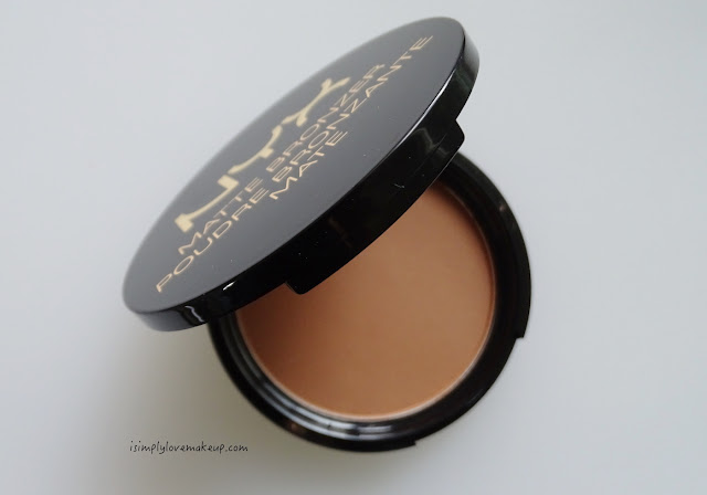 NYX Matte Bronzer Deep Tan Review Swatches