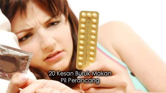 20 Bahaya Makan Pil Perancang