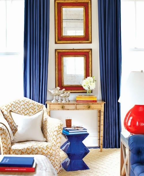 AT HOME: RUSTIC RED, WHITE, AND BLUE
