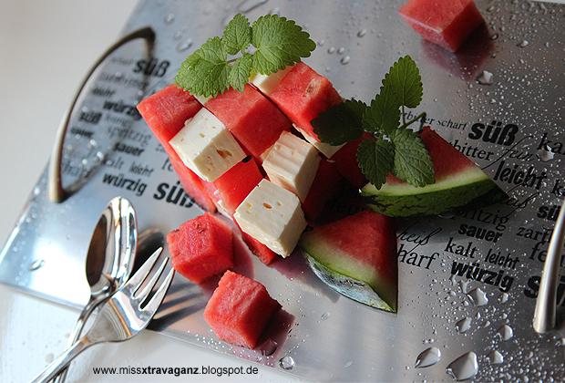 rezept leichtes sommerdessert wassermelone trifft feta miss von xtravaganz lifestyle. Black Bedroom Furniture Sets. Home Design Ideas