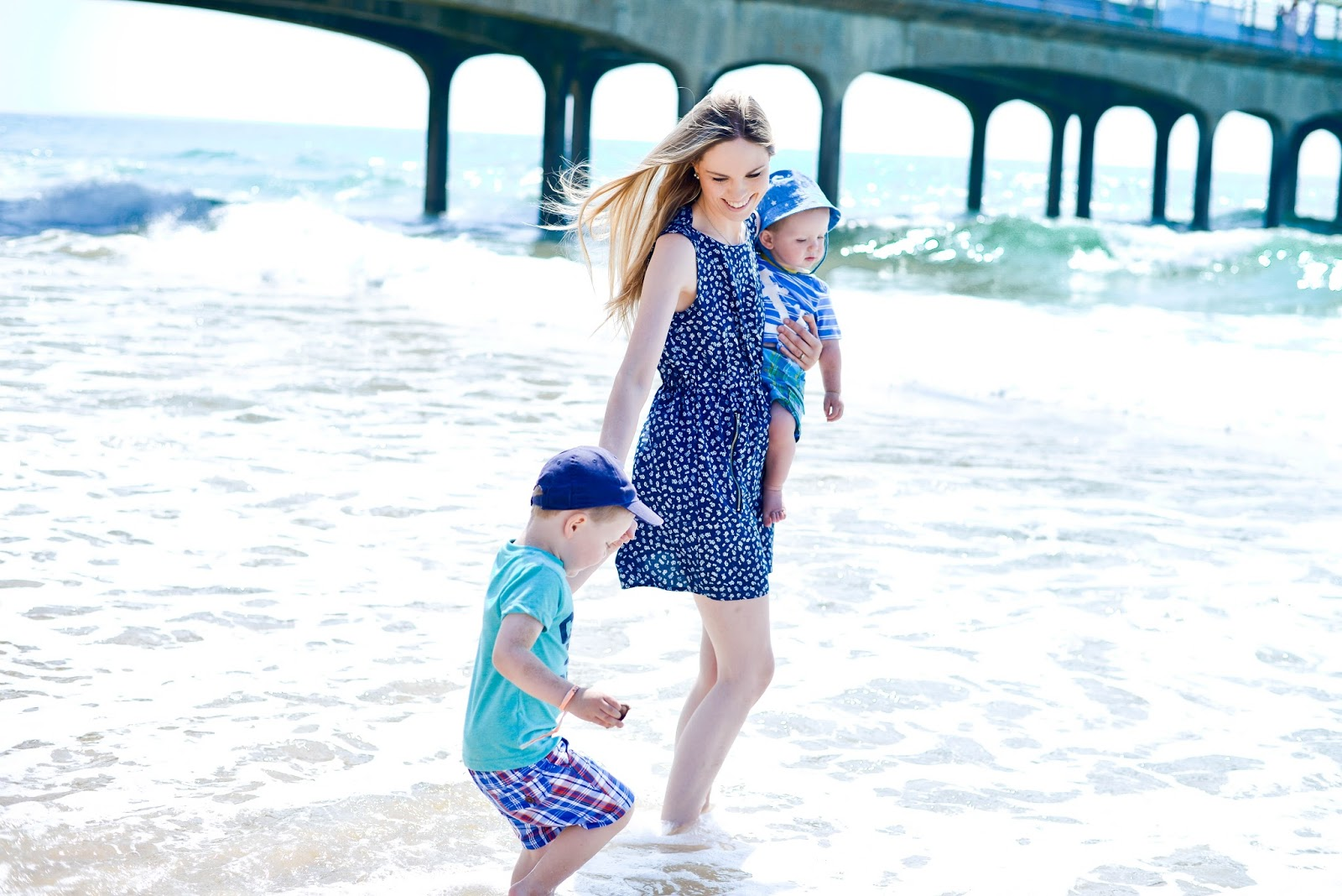 Bournemouth beach summer dress