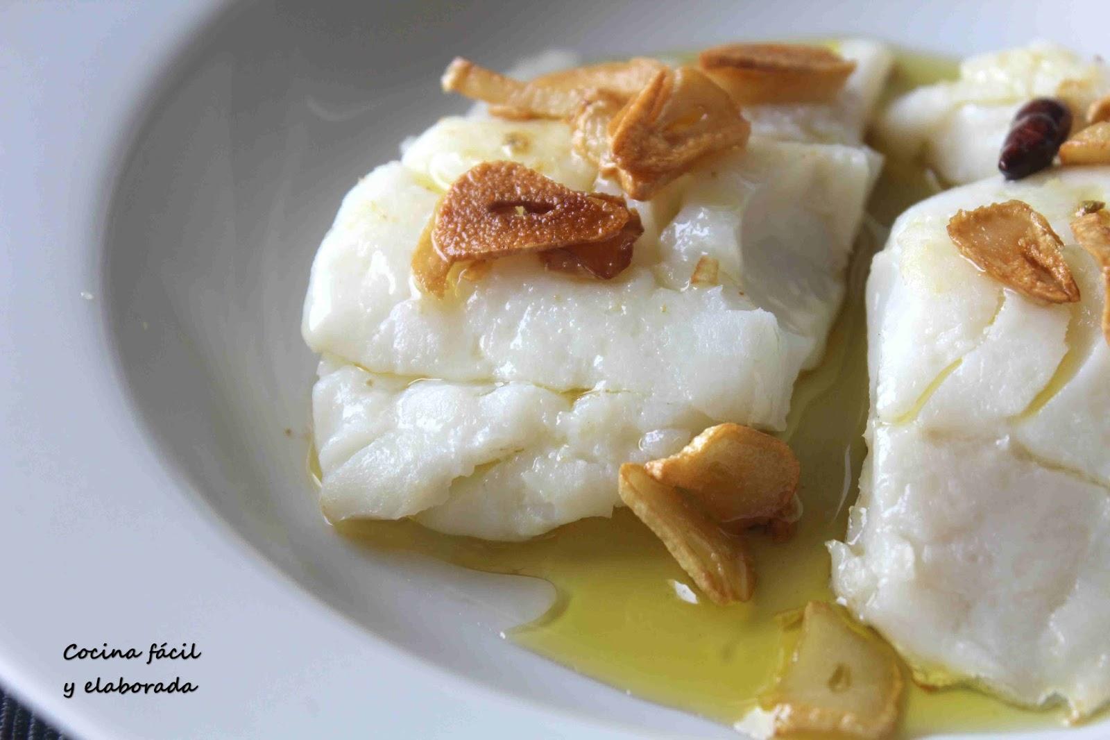 cocina facil y elaborada bacalao a baja temperatura con