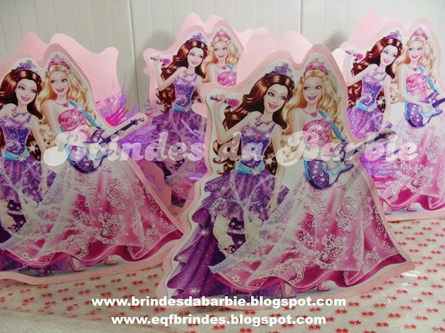 Centro de Mesa Barbie Pop Stars Brindes da Barbie