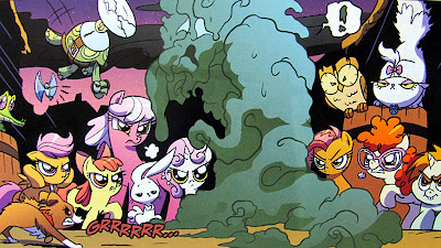 Ponyville and pets versus a Nightmare beast