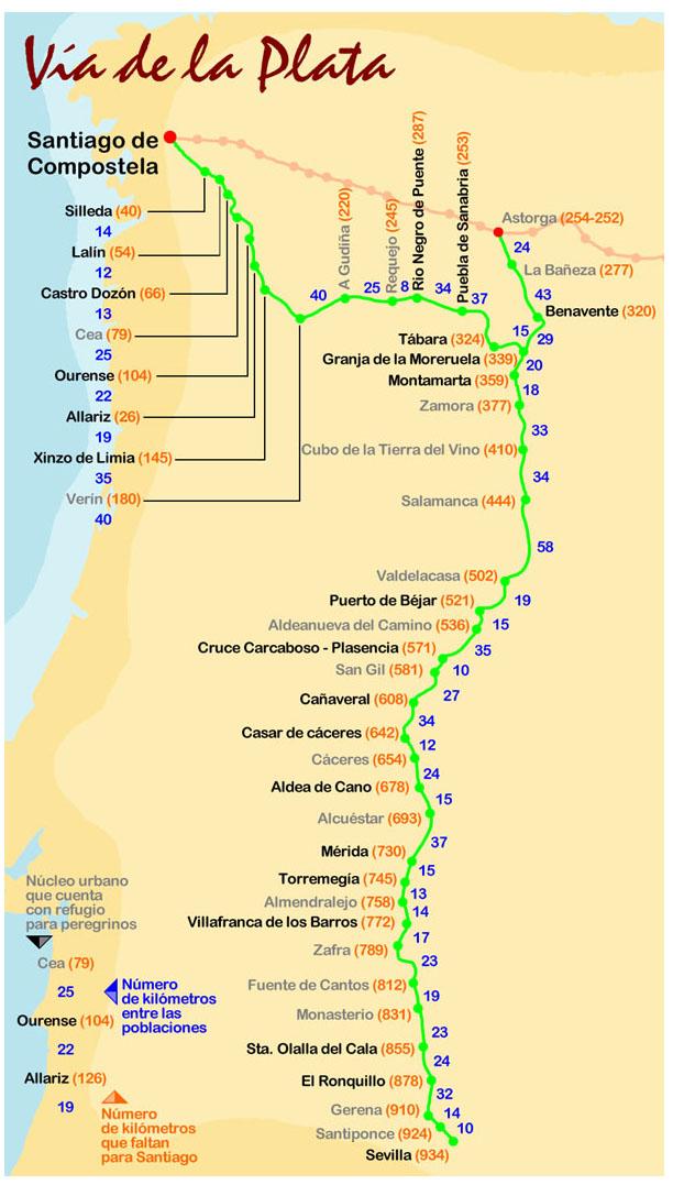 El Camino De Santiago Une Europa El Camino De La Vía De La Plata