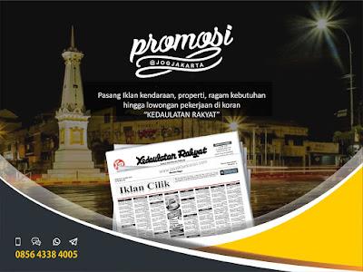 iklan Koran Kedaulatan Rakyat Jogja