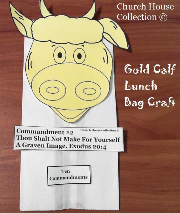 Paper Plate Golden Calf Craft For The Ten Commandments Thou Shalt Not Make Yourself A