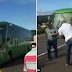 Brazil fans 'welcome back players' by throwing stones at the team bus