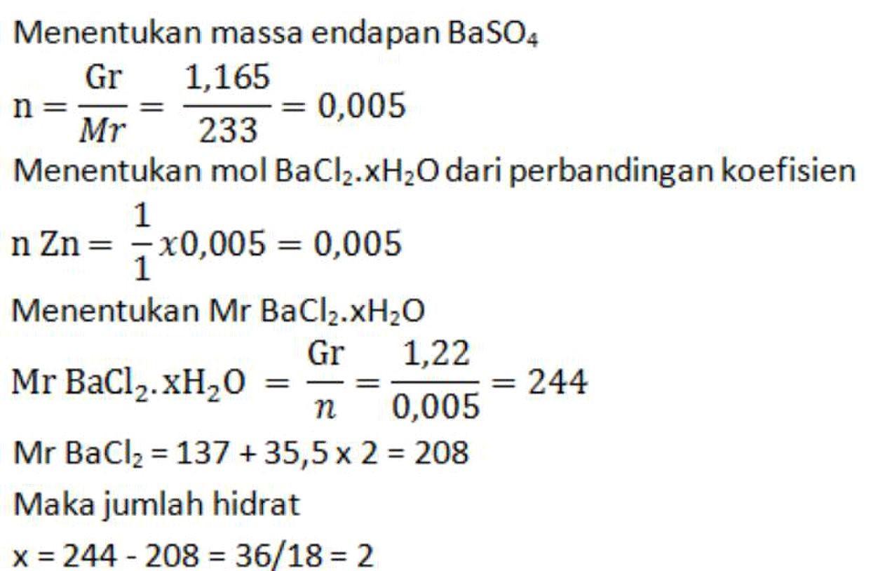 Pembahasan Kimia Erlangga Stoikiometri Latihan 6 9 6 10 Primalangga
