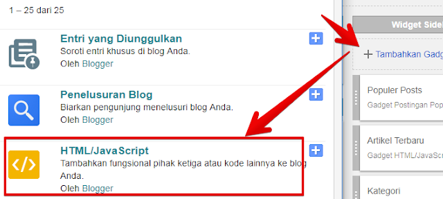 Menambah Widget Baru pada Blogspot