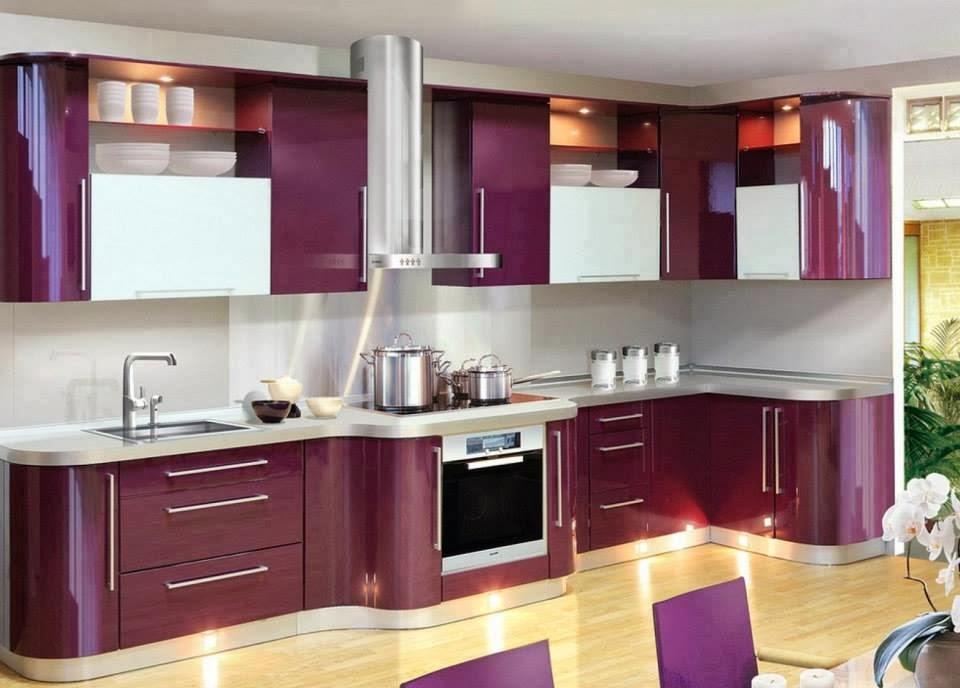 Modern Purple Kitchen Designs