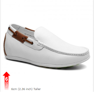 White Boat Shoes That Add Height Invisible Heels For Men Fashion Shoes With Hidden Heel