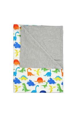 Selimut Bayi Baby Blanket White Dinosaurus Blanket