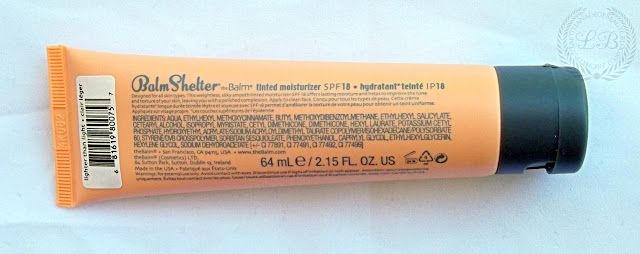 THE BALM COSMETICS : Balm Shelter Tinted Moisturizer SPF18