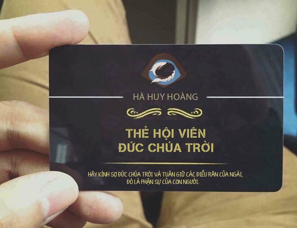 [PSD] Mockup Thẻ hội viên - Đức chúa trời