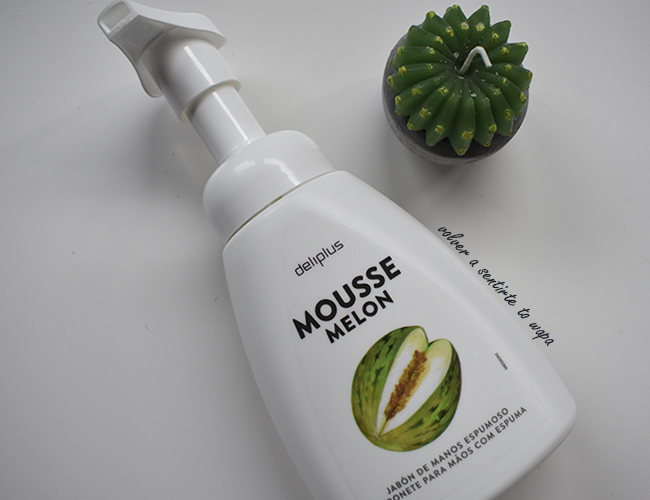 Jabón de manos en Mousse con olor a Melón de Mercadona