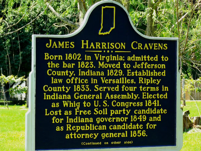 Southeast Indiana Historical Marker - James Harrison Cravens