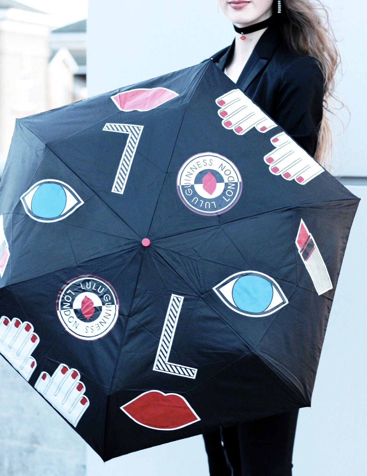Fulton Lulu Guinness Stickers Umbrella