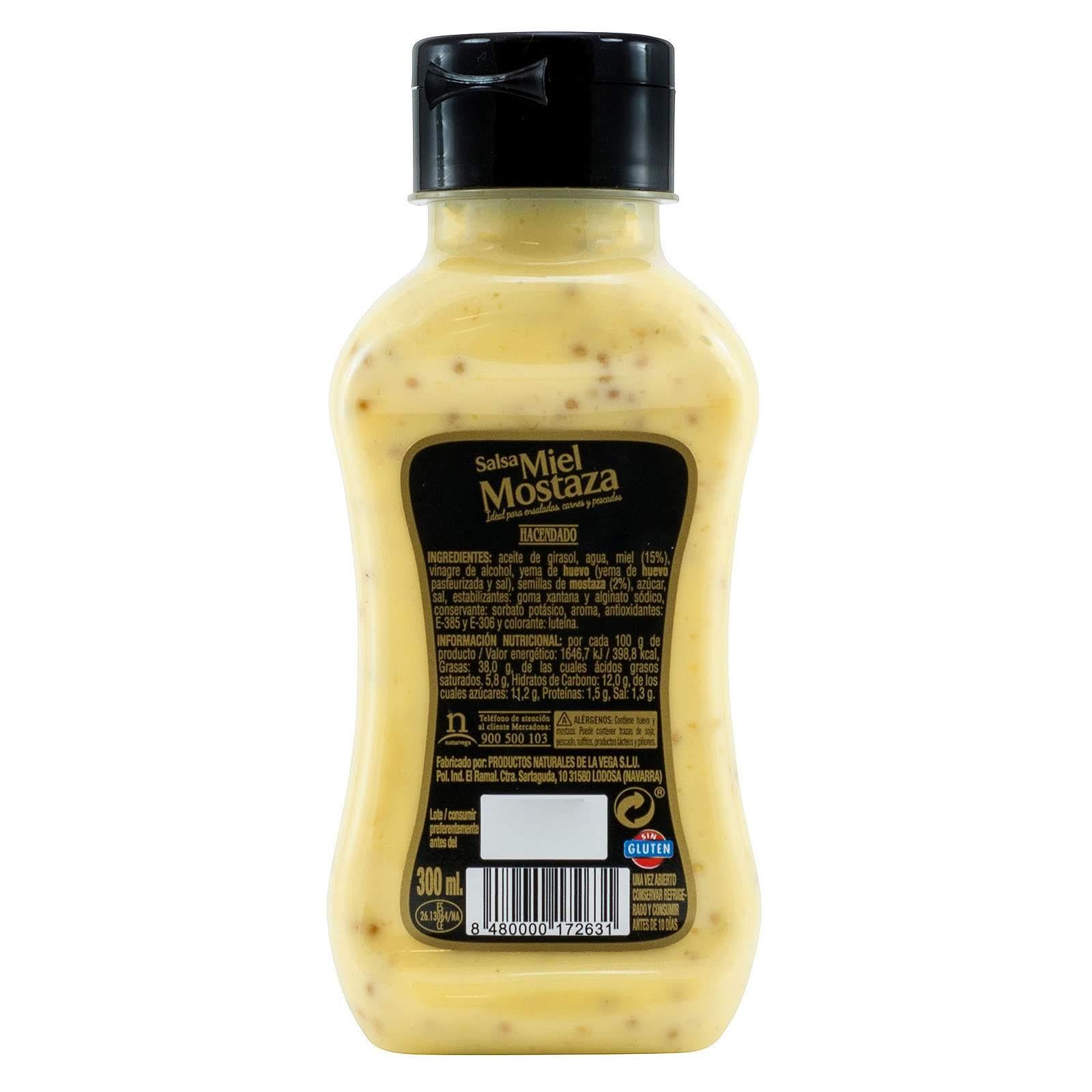 Salsa miel y mostaza Hacendado