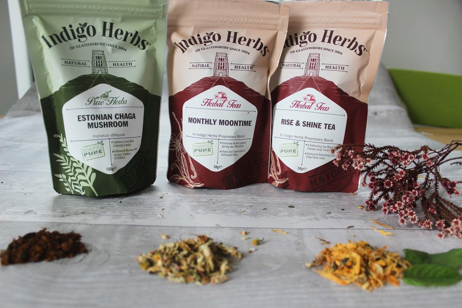 Indigo herbs tea